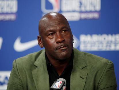 Michael Jordan, en enero, en París.