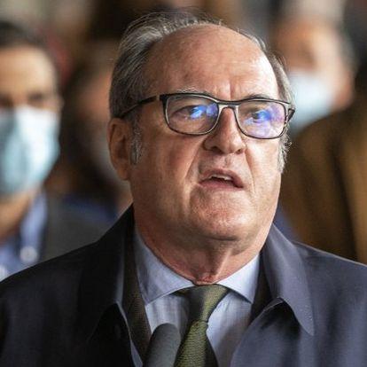 DVD1048 (22/04/2021) El candidato a la Comunidad de Madrid çngel Gabilondo del PSOE se dirige a la prensa y a simpatizantes en Alcal‡ de Henares, Madrid.