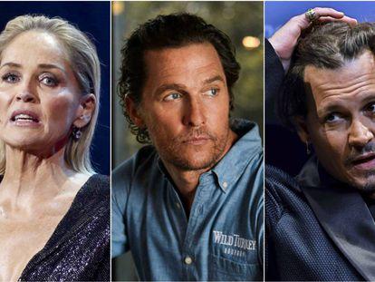 Sharon Stone, Matthew McConaughey y Johnny Depp.