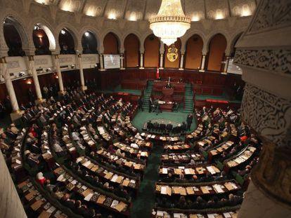 Vista de la Asamblea Constituyente tunecina.