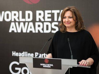 Marta Álvarez, presidenta de El Corte Inglés, en la entrega de unos premios del sector de la distribución en 2019.