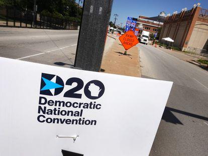Cartel de la Convención Demócrata en Milwaukee.