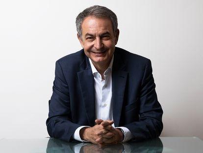 El expresidente del Gobierno Jose Luis Rodríguez Zapatero, durante la entrevista.