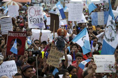 Protestas en Guatemala contra el presidente, este sábado