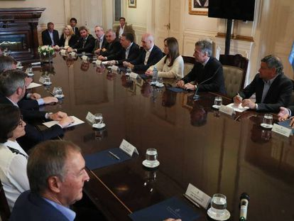 Macri, en su reunión con los gobernadores.