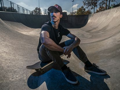 Danny León, el pasado martes en el skatepark de Boadilla. En vídeo, Danny León y la esencia del skate.