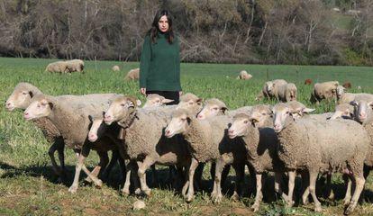 La escritora y veterinaria María Sánchez en Las Albaidas, Córdoba.