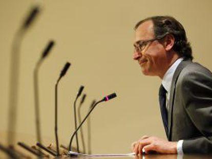 Alfonso Alonso, este martes en el Congreso.