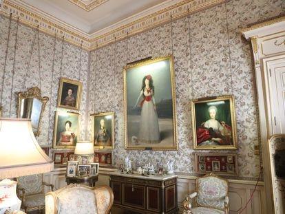 Salón Goya del Palacio de Liria, en Madrid.