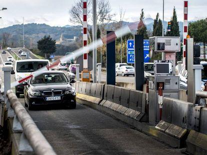 Salida de la autopista AP-7 de Girona Sur