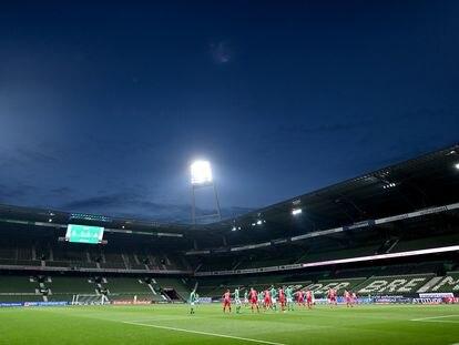 Un momento del Werder Bremen-Bayer Leverkusen del lunes.