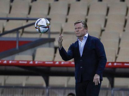 Ronald Koeman, el sábado, durante la final de la Copa del Rey.