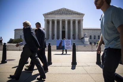 La Corte Suprema de EE UU, este jueves.