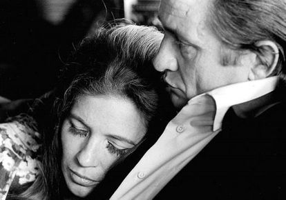 Johnny Cahs y June Carter.