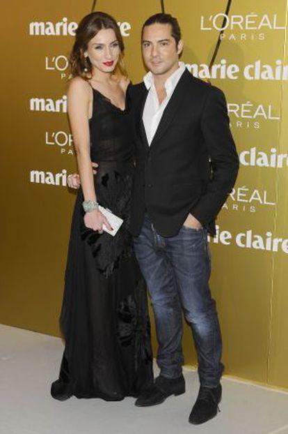 David Bisbal y Raquel Jiménez posaron juntos por primera vez en un 'photocall'.