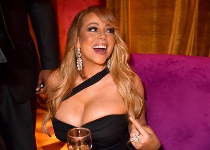 Mariah Carey en una fiesta posterior a los Globos de Oro de 2018.
