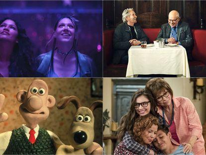 Las series 'Euphoria', 'El método Kominsky', 'Wallace y Gromit' y 'Día a día'.
