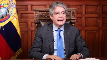 El presidente de Ecuador, Guillermo Lasso, este lunes en Quito.
