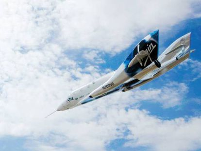 Prototipo de Virgin Galactic para vuelos suborbitales destinados al turismo espacial.
