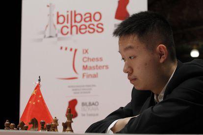 Yi Wei, de 17 años, durante la Final de Maestros de Bilbao
