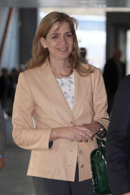 La infanta Cristina, hija menor de los Reyes.