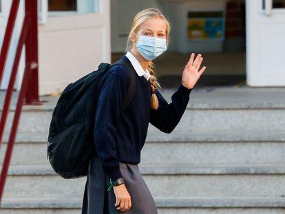 La princesa Leonor, el pasado día 11 de septiembre en su primer día de colegio.