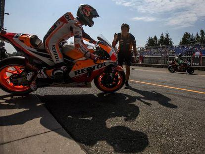 Dani Pedrosa en el GP de República Checa de MotoGP