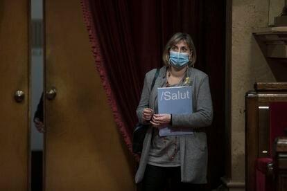 La consejera catalana de Salud Alba Vergés en el Parlament.   . Foto: Massimiliano Minocri