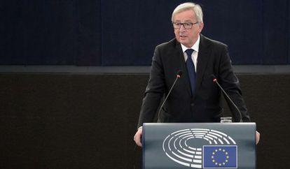 El Presidente de la Comisión Europea, Jean-Claude Juncker, en Estrasburgo (Francia), el 9 de septiembre de 2015.