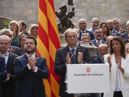 Los partidos y entidades separatistas se han manifestado en toda Cataluña en una jornada de protesta antes de la publicación de la sentencia del juicio del  procés