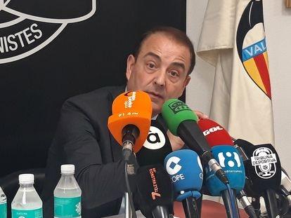 Miguel Zorío durante la conferencia de prensa de este jueves.