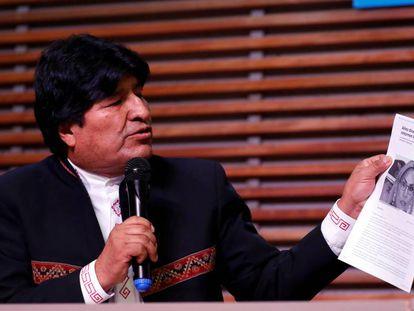 El expresidente de Bolivia Evo Morales en Buenos Aires, Argentina.