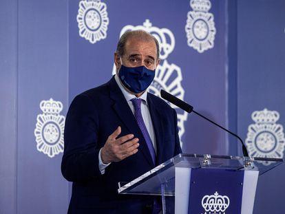 Francisco Pardo, director general de la Policía, durante un acto celebrado el pasado miércoles en Madrid.