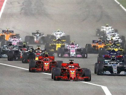La carrera del GP de Bahréin de F1 en el circuito de Sakhir