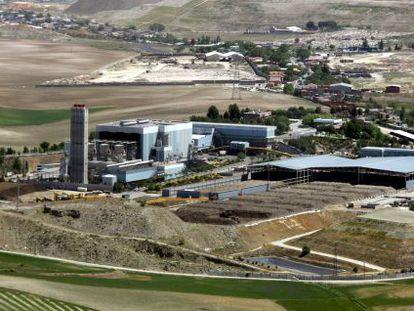 Vista aérea de la incineradora de Valdemingómez, en 2005.