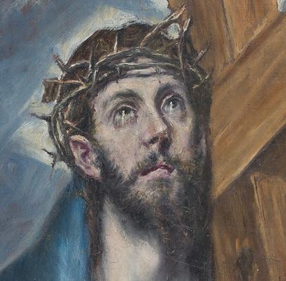 Detalle del Cristo atribuido al Greco.