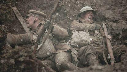 Una escena en las trincheras del film 'Coward' (2012).