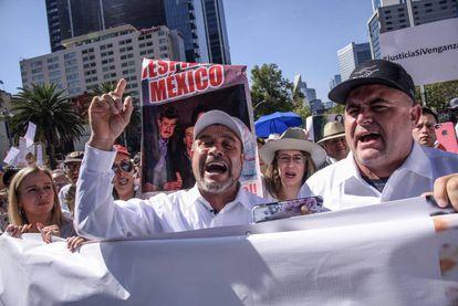 Manifestación el pasado mes de diciembre por la masacre de LeBarón.