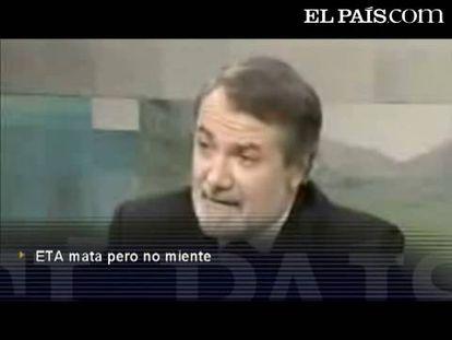 """Mayor Oreja: """"ETA mata, pero no miente"""""""