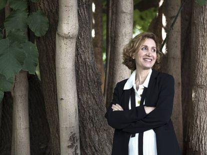 Carolina Moreno, el pasado sábado en el Jardín Botánico de la Universitat de València.