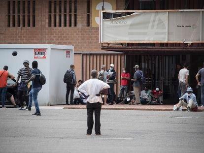 Temporeros procedentes de países africanos en Lleida.