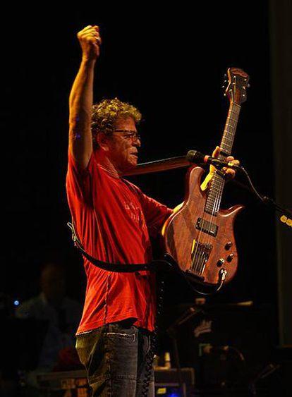 Lou Reed, durante su actuación del lunes en Málaga.