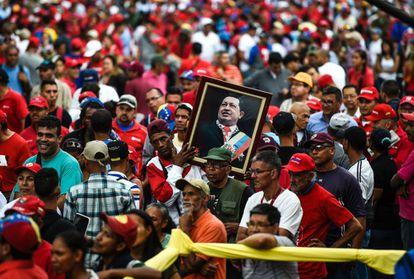 Simpatizantes de Nicolás Maduro en las calles de Caracas.