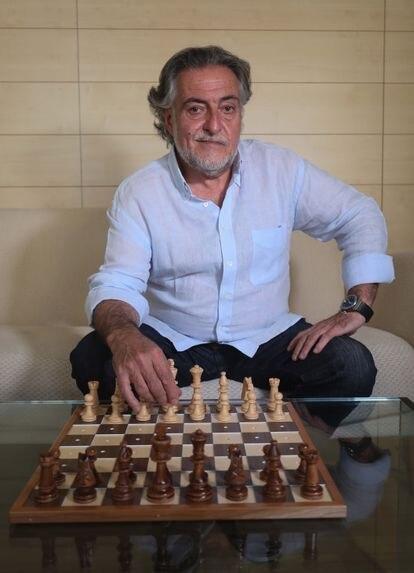 Pepu Hernández, el día 1 en la sede del grupo municipal socialista en Madrid, del que es portavoz. KIKE PARA