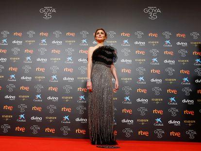 Marta Nieto en la alfombra roja de los premios Goya 2021.