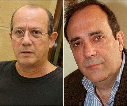 Silvio Rodríguez y Carlos A. Montaner