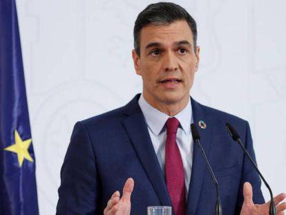 El presidente del Gobierno, Pedro Sánchez, este martes.