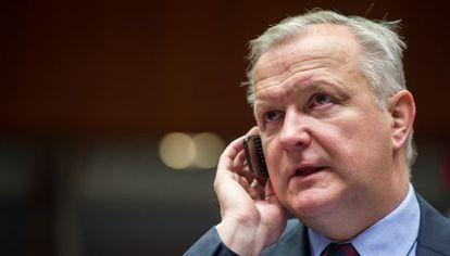 El comisario de Asuntos Económicos y Monetarios, Olli Rehn, en Bruselas.