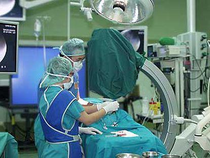 Un quirófano del hospital Clínic de Barcelona.