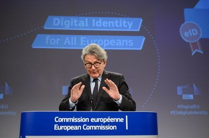 The Commissioner for the Internal Market, Thierry Breton, during the press conference on Thursday 3 June.
